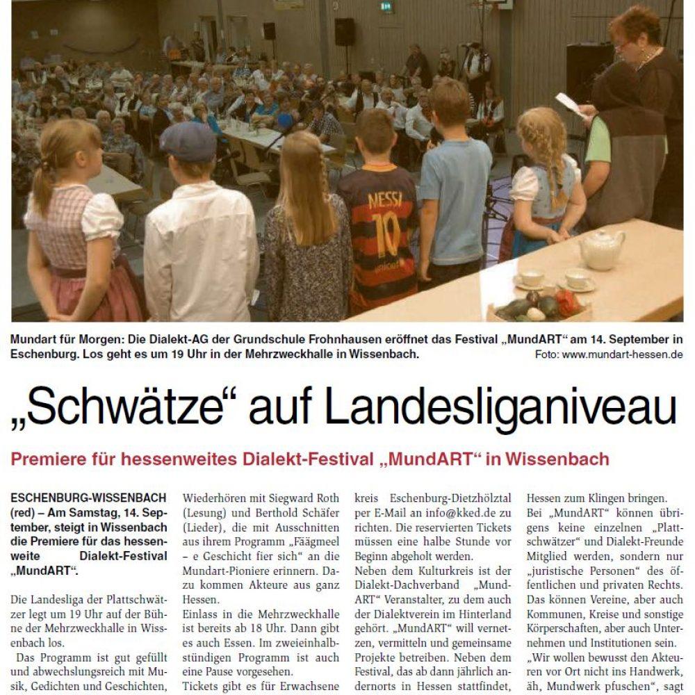 """""""Schwätze auf Landesliganiveau"""" (Lahn-Dill erleben 05.09.2019)"""