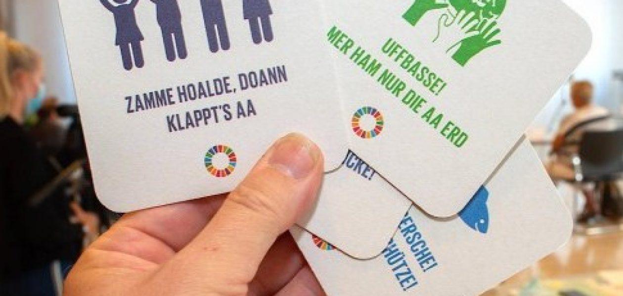 FAZ (11.09.2020) Nachhaltigkeit auf Mundart: Bierdeckel für eine bessere Welt